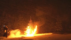 The Xmas Tree Arsonist 1 Stock Footage