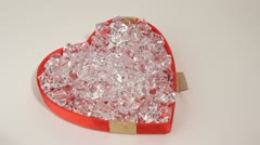 Heart and diamond. HD Stock Footage