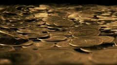 Money fly through LOOPED Stock Footage