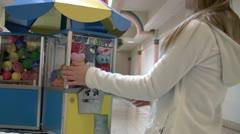 Turning gum ball machine Stock Footage