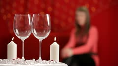 Man pours the wine in wineglasses. HD Stock Footage