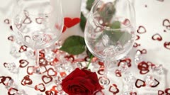 Wine at the holiday table. HD Stock Footage