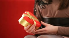 The gift box in shape of the heart.  HD Stock Footage