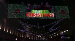 Christmas lights on Regent Street Stock Footage
