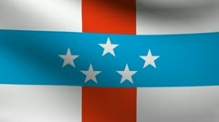 Netherlands Antilles flag. Stock Footage