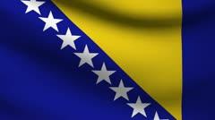 Bosnia flag. Stock Footage