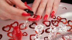 Luxurious manicure. HD - stock footage