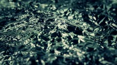 Background of rotate foil closeup Stock Footage