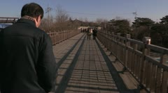 Bridge of Freedom bewteen North and South Korea Stock Footage
