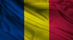 Chad flag. Stock Footage