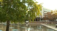 Protest, Occupy (wall street) Calgary tents pan reveal Stock Footage