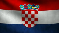 Croatia flag. Stock Footage
