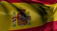 National Flag of Spain Stock Footage