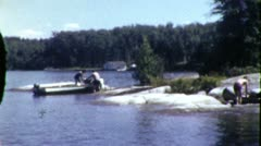 People Canoeing Summer Vacation Canoe Summer 1960 Vintage Film Home Movie 1975 Stock Footage