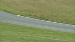 Drivers take a warm-up lap (1 of 4) Stock Footage
