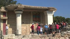 Corridor of Procession (fresco), Palace of Knossos, Greek Island of Crete Stock Footage