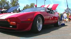 Ford GT Sportscar at Ford Car Show Stock Footage