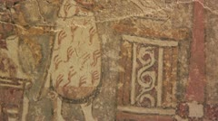 """Minoan burial or funerary vessel known as the """"Agia Triada Sarcophagus"""" Stock Footage"""