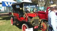 Model T Ford at Car Show Stock Footage