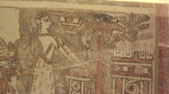 """Minoan burial or funerary coffin known as the """"Agia Triada Sarcophagus"""" Stock Footage"""