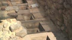 Pithos jars storage magazine & the Palace of Knossos, Crete Stock Footage