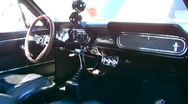 Muscle Car Interior at Ford Car Show Stock Footage