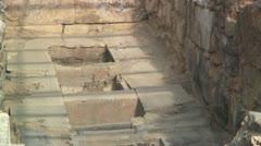 Pithos jars storage magazine & the Palace of Knossos, Crete (Greece) Stock Footage