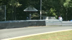 Guard rail along race track (3 of 3) Stock Footage