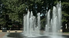 Tall Water Fountain Spaying Up (editorial) Stock Footage