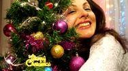 Embrace Christmas tree Stock Footage