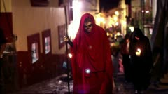 Day of the dead on the street of Mexico Stock Footage