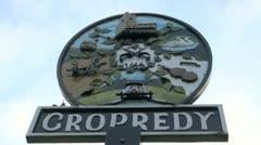 Cropredy Signpost - stock footage
