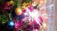 Christmas sparks Stock Footage