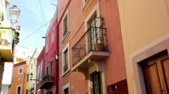Colored streets of Mexico Stock Footage