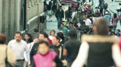 Crowd street of Mexico Stock Footage