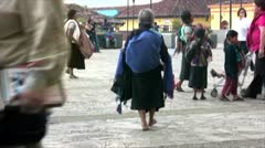 Woman in San Cristobal Stock Footage