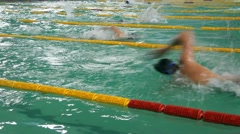 Swimming Championship - stock footage