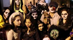 Day of the dead in Taxco, Guerrero, Mexico - stock footage