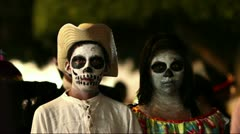 Day of the dead in Mexico Stock Footage