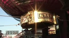 Handheld shot of Asakusa Temple Entrance Stock Footage