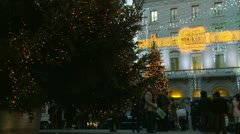 Christmas shopping in Rome (7) Stock Footage