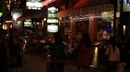 Pub Street at night near Angkor Wat Stock Footage