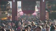 Stock Video Footage of Asakusa Temple Crowd