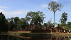 Angkor Temple, Banteay Srey Stock Footage