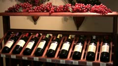 Wine Rack Stock Footage