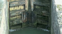 Oxford Canal Lock Gates Stock Footage