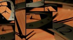 Wood Clock - Timelapse Stock Footage