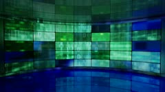 IT high-tech background on screens in virtual studio loop Stock Footage