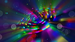 Multicoloured shiny circles and particles loop background Stock Footage