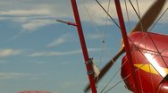 Aircraft, Stampe Biplane start up, tight on nose and wing struts Stock Footage